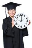 Estudiante graduado de la niña foto de archivo