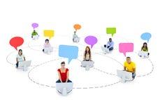 Estudiante Group con concepto social de la comunicación Fotos de archivo libres de regalías