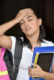 Estudiante With Headache imagen de archivo