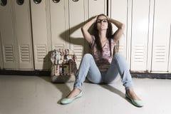 Estudiante hermoso joven en la universidad Fotos de archivo libres de regalías