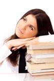 Estudiante hermoso soñador Imagen de archivo