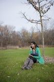 Estudiante indio en al aire libre Imágenes de archivo libres de regalías