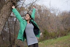 Estudiante indio en al aire libre Imagen de archivo libre de regalías