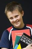 Estudiante inglés sonriente Imagen de archivo