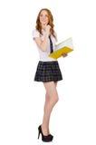 Estudiante joven aislado Foto de archivo libre de regalías
