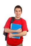 Estudiante joven con el morral Imagen de archivo libre de regalías