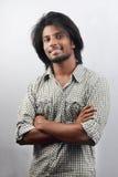 Estudiante joven con estilo de pelo de moda Fotos de archivo libres de regalías