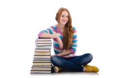 Estudiante joven con los libros Foto de archivo