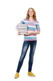 Estudiante joven con los libros Fotografía de archivo libre de regalías