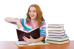 Estudiante joven con los libros Fotos de archivo libres de regalías