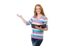 Estudiante joven con los libros Imagenes de archivo