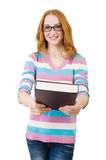 Estudiante joven con los libros Imagen de archivo