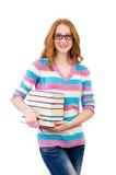Estudiante joven con los libros Imagen de archivo libre de regalías