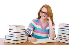 Estudiante joven con los libros Fotografía de archivo