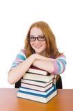 Estudiante joven con los libros Imágenes de archivo libres de regalías
