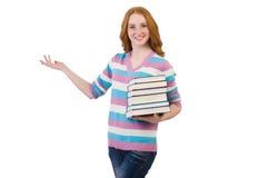 Estudiante joven con los libros Foto de archivo libre de regalías