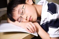 Estudiante joven durmiente Fotografía de archivo