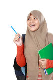 Estudiante joven feliz que piensa algo Fotos de archivo libres de regalías