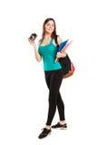 Estudiante joven hermoso del adolescente que presenta con Imagen de archivo libre de regalías