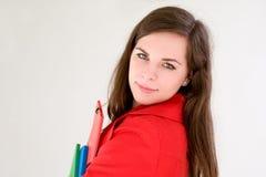Estudiante joven lindo muy colorido. Imagenes de archivo