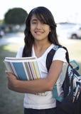 Estudiante joven listo para la escuela fotografía de archivo