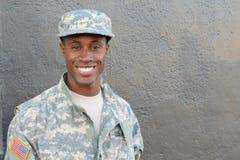 Estudiante joven orgulloso de la escuela militar Imagenes de archivo