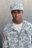 Estudiante joven orgulloso de la escuela militar Foto de archivo
