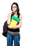 Estudiante joven pensativo. Foto de archivo