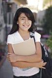 Estudiante joven preparado para aprender. imagen de archivo