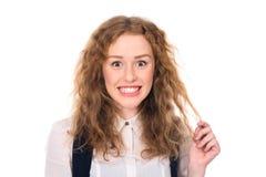 Estudiante joven sorprendido feliz Fotos de archivo