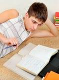 Estudiante With libros Imagen de archivo libre de regalías