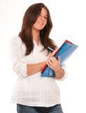 Estudiante lindo que toma notas Fotos de archivo libres de regalías