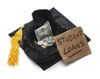 Estudiante Loan Debt imagen de archivo libre de regalías