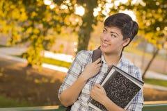 Estudiante Looking Away de la raza mixta Fotos de archivo libres de regalías