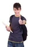 Estudiante masculino acertado Foto de archivo libre de regalías
