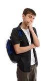 Estudiante masculino de pensamiento Fotos de archivo
