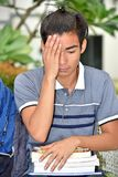 Estudiante masculino And Sadness imagen de archivo libre de regalías