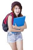Estudiante moderno hermoso de la High School secundaria Fotografía de archivo libre de regalías