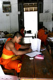 Estudiante Monk de Laos Foto de archivo