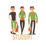 Estudiante People Set 2 stock de ilustración