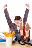 Estudiante perezoso, aburrido, oficinista, aislado foto de archivo libre de regalías