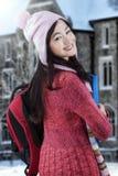 Estudiante precioso en desgaste del invierno Fotos de archivo
