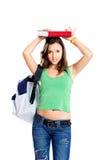 Estudiante preocupante del adolescente Imagen de archivo
