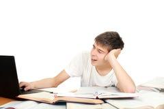 Estudiante que bosteza Fotos de archivo libres de regalías