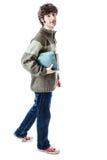 Estudiante que camina Imagen de archivo libre de regalías