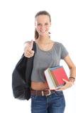 Estudiante que da los pulgares para arriba Fotografía de archivo