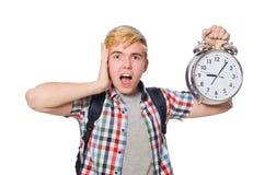 Estudiante que falta sus plazos que estudian Imágenes de archivo libres de regalías