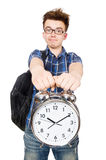 Estudiante que falta sus plazos que estudian Imagen de archivo