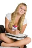 Estudiante que hace la preparación Fotografía de archivo libre de regalías