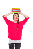 Estudiante que hace muecas Imagen de archivo libre de regalías